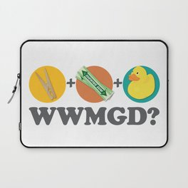 Peg + Gum + Duck = What would MacGyver Do? Laptop Sleeve