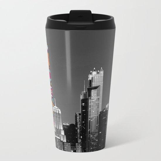 Funky Landmark - Chicago Metal Travel Mug