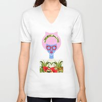 fern V-neck T-shirts featuring Fern  by The Pairabirds