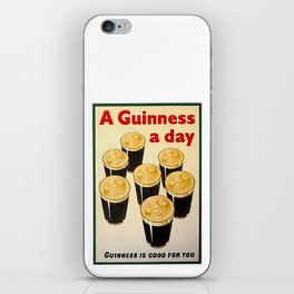 Vintage Guinness Advert Art iPhone Skin