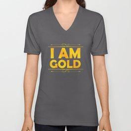 Golden I am Gold Unisex V-Neck