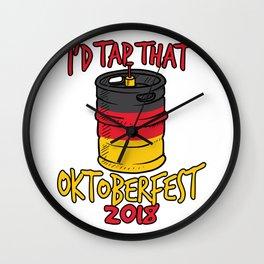 I'd Tap That Germany Oktoberfest Beer Keg Wall Clock