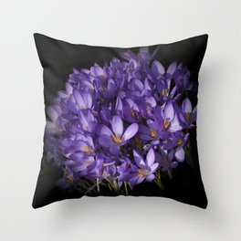 the colors of spring - lilac crocus Throw Pillow