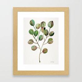 Silver Dollar Eucalyptus – Green Palette Framed Art Print