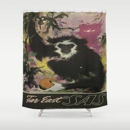 Vintage poster - Far East Shower Curtain
