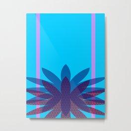 Floretta Loves Blue Metal Print