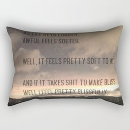 "Modest Mouse Lyric From ""The View"" Rectangular Pillow"