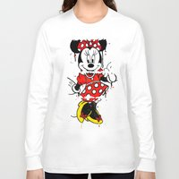 minnie Long Sleeve T-shirts featuring Minnie Mashed by Dave Seedhouse.com