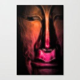 BuddhaFace orange Canvas Print