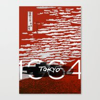 tokyo Canvas Prints featuring Tokyo by Artworks by Pablo Zarate Inc.