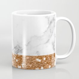 Marble and brass glitter Coffee Mug