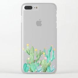 Cactus Cacti Succulent Garden Desert Southwest Clear iPhone Case