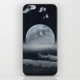 moon-lit ocean iPhone Skin