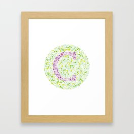 """C"" Eye Test Letter Circle Framed Art Print"