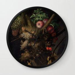 Giuseppe Arcimboldo - Four Seasons in One Head Wall Clock