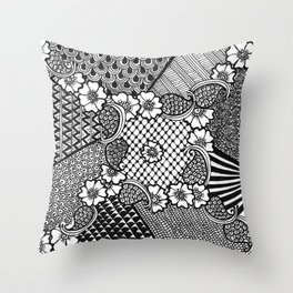 Flower Square Throw Pillow
