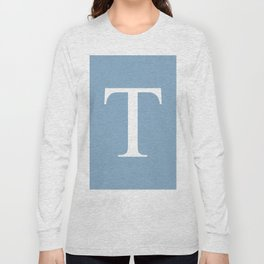 Letter T sign on placid blue background Long Sleeve T-shirt
