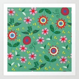 Floral pattern # C10 Art Print