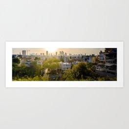 Tel Aviv skyline from Ramatgan 2 Art Print