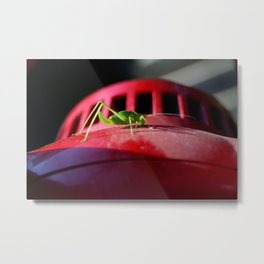 Alien on the saucer Metal Print