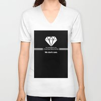 lorde V-neck T-shirts featuring Diamonds by timberboard