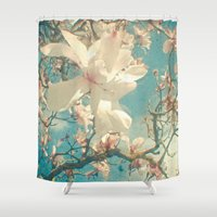 once upon a  time Shower Curtains featuring Once Upon a Time by Cassia Beck
