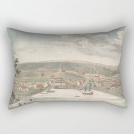 Vintage Pictorial Map of Baltimore MD in 1752 Rectangular Pillow