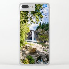 Snoqualmie Falls from Below Clear iPhone Case
