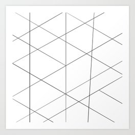 Geometric black white artistic abstract pattern Art Print