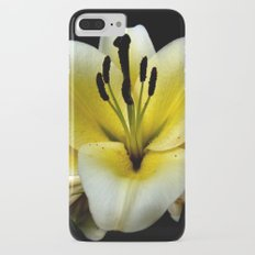 Wonderful Flower yellow and black Slim Case iPhone 7 Plus