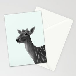 Deer on Mint Stationery Cards