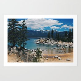 Soak up some sun and play in the water  Art Print