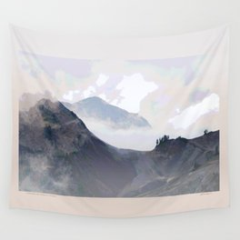COOL MISTS OVER VOLCANIC TERRAIN Wall Tapestry