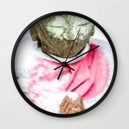 Frozen Prayer Wall Clock
