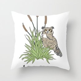 Things Swedes Say - I Sense Owls in the Bog Throw Pillow