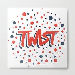 Twist N.12Bis Modele Rond Metal Print