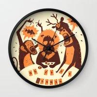 poker Wall Clocks featuring Holdem Poker by Bakal Evgeny