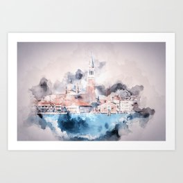 Venezia watercolour Art Print