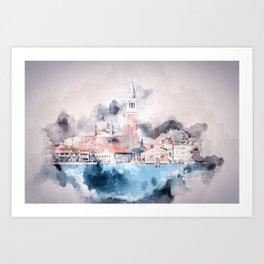 Venezia watercolour Art Print