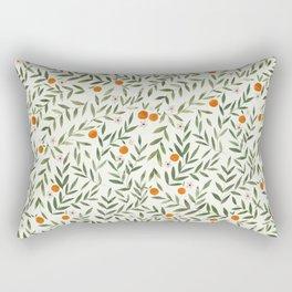 Oranges Foliage Rectangular Pillow