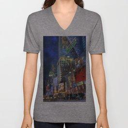 Times Square Unisex V-Neck