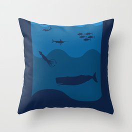 Oceans Alive Throw Pillow