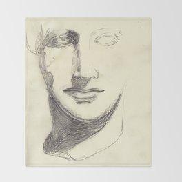 Head of a Goddess - sketch Throw Blanket