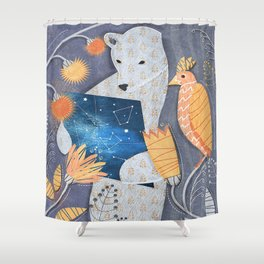 Bear searching exit Shower Curtain