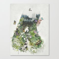 Cat in the Garden of Your Mind Canvas Print