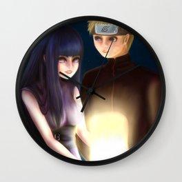 NaruHina Lantern Filter Wall Clock