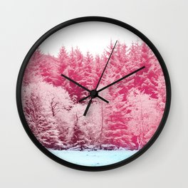 Candy pine trees Wall Clock