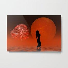 red fog Metal Print