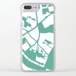 Vilnius map teal Clear iPhone Case