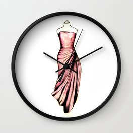 Pink Gown Wall Clock